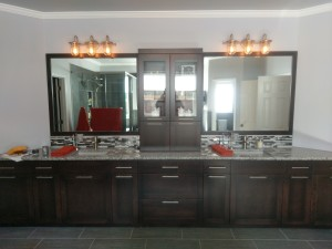 before during after master bathroom project (33)