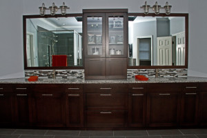 before during after master bathroom project (4)