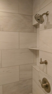 ice white mable shower niche