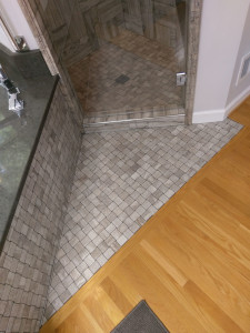 wood to tile transition