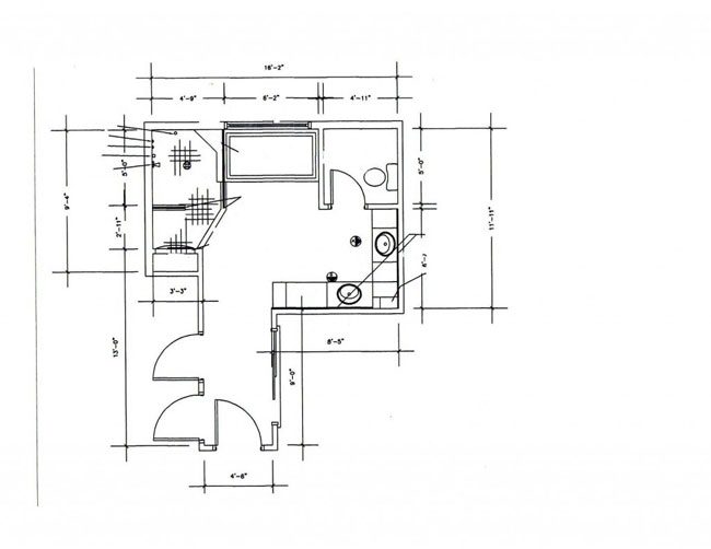 Example of Bathroom Layout